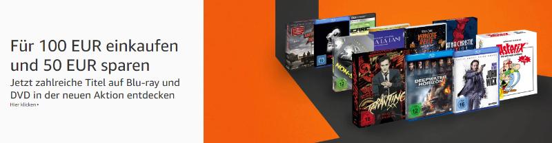 Für 100 Euro kaufen und 50 Euro Rabatt erhalten- Amazon Angebot Aktion Heimkino