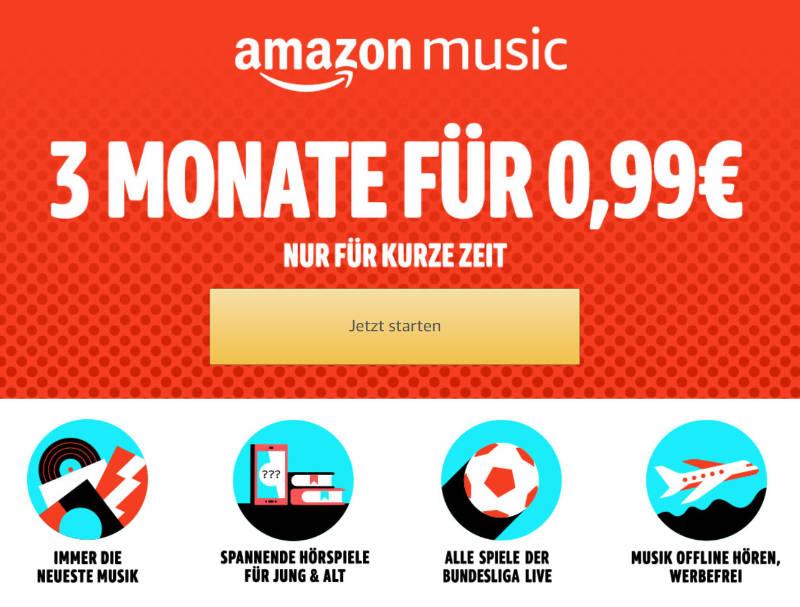 Music Unlimited - Musik und Fußball - 3 Monate für 99 Cent