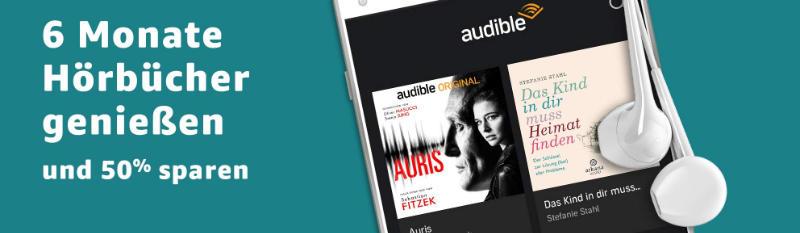 Audible Hörbücher zum halben Preis für Neukunden