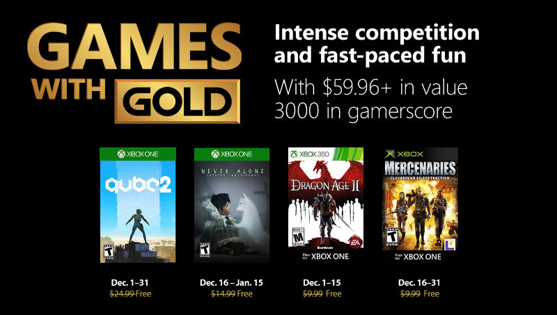 Xbox Live - Games with Gold Dezember 2018