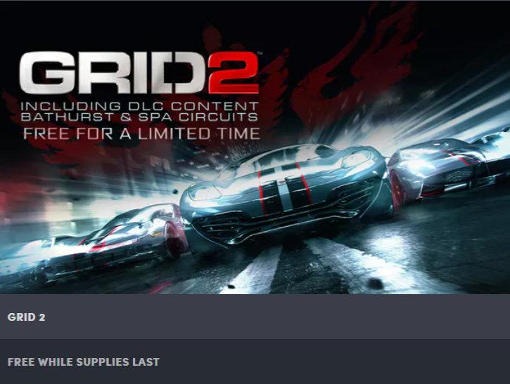 GRID 2 inkl. zusätzlicher Strecken kostenlos - Steam Key kostenlos