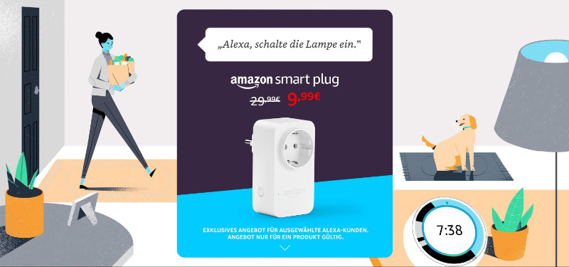 Amazon Smart Plug für 10 Euro - 20 € Rabatt mit Aktionsgutschein SMART10