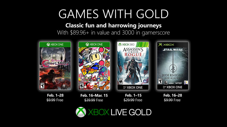 Xbox Live - Games with Gold Januar 2019
