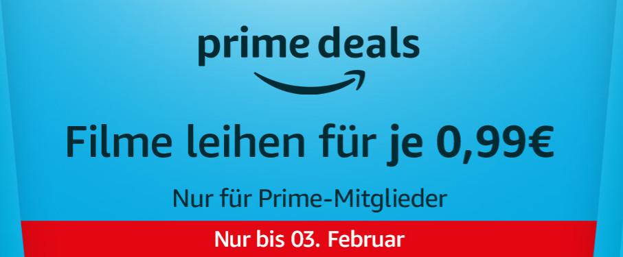 Prime Deals Wochenende - 20 Filme für 99 Cent Februar