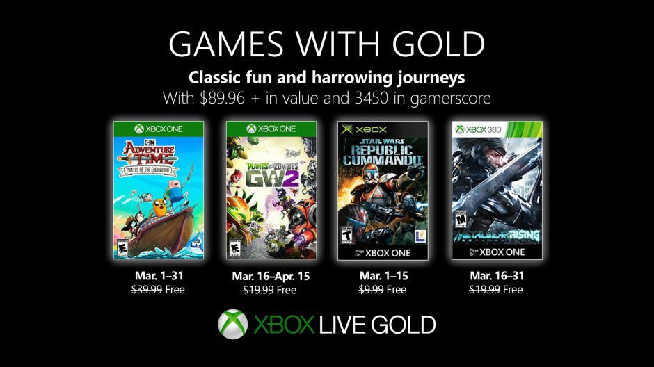 Xbox Live - Games with Gold März 2019