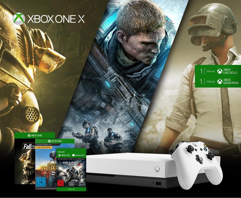Xbox One X günstiger im Bundle mit Spielen
