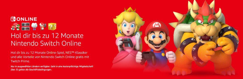 Nintendo Switch Online kostenlos für bis zu 12 Monate