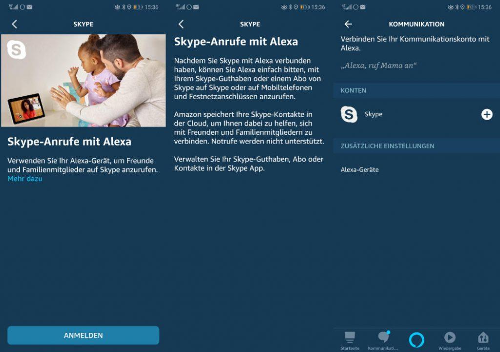 Skype Anrufe mit Alexa jetzt auch in Deutschland
