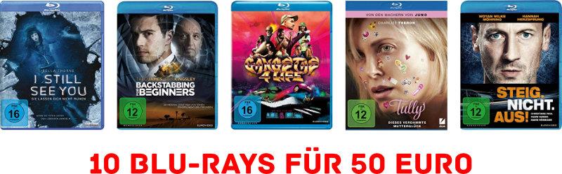 10 Blu-rays für 50 Euro - April 2019