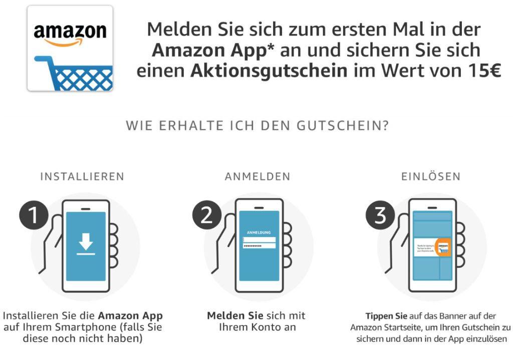 15 Euro Amazon Aktionsgutschein - Juli 2019 - Neunutzer