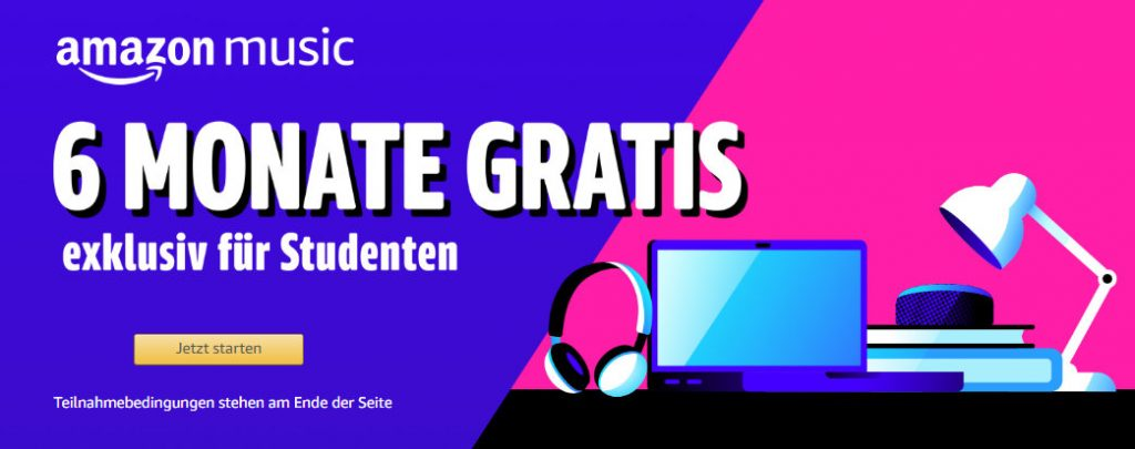 Amazon Music Unlimited - 6 Monate kostenlos für Studenten