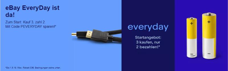 eBay EveryDay - 3 für 2 - Produkte des alltäglichen Bedarfs