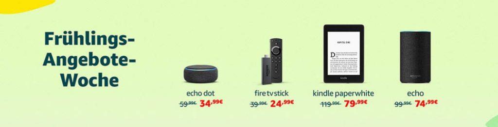 Frühlings-Angebote-Woche - Fire TV Stick 4K, Echo, Kindle Paperwhite, Tablets und mehr reduziert