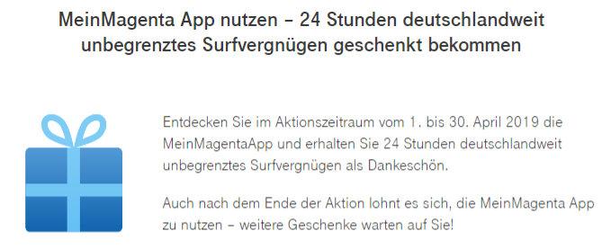 Deutsche Telekom Unbegrenztes Datenvolumen Fur 24 Stunden Kostenlos
