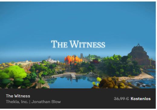 The Witness - Epic Store - PC-Spiel kostenlos / gratis