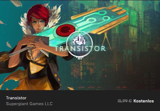 Transistor - Epic Store - PC-Spiel kostenlos / gratis