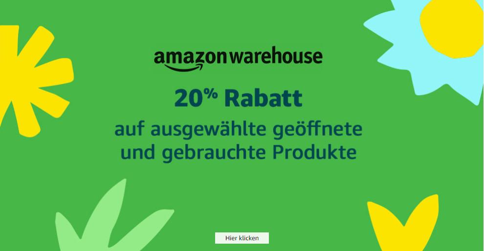 20% Rabatt zusätzlich auf die Warehouse Deals von Amazon