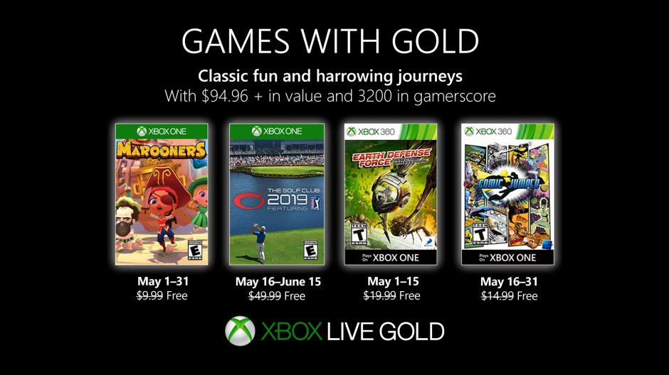 Xbox Live - Games with Gold Mai 2019