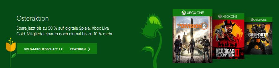 Xbox Store - Osteraktion - Springsale 2019 - Games, Game Pass und Xbox Live günstiger