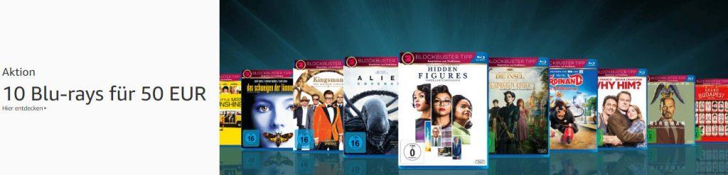 10 Blu-rays für 50 Euro - Mai 2019