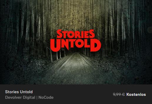 Stories Untold - Epic Store - PC-Spiel kostenlos / gratis
