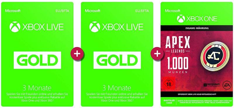 Xbox Live Gold - Zweimal 3 Monate (6 Monate) günstiger
