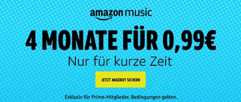 Amazon Music Unlimited ab 99 Cent für 4 Monate