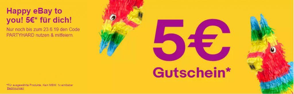 eBay verschenkt viele Produkte unter 5 Euro ohne Versandkosten - Gutschein über 5 Euro