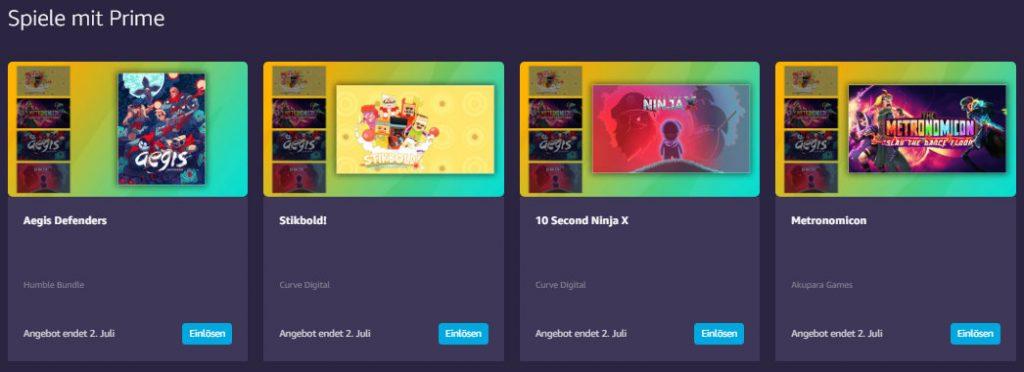 Kostenlose PC-Games mit Amazon Prime und Twitch Prime - Juni 2019