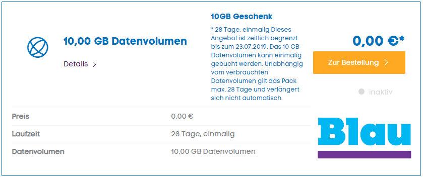 Blau verschenkt 10 GB Daten an seine Prepaid-Kunden