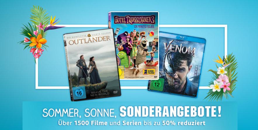 Reduzierte Filme und Serien auf DVD und Blu-ray fürs Heimkino