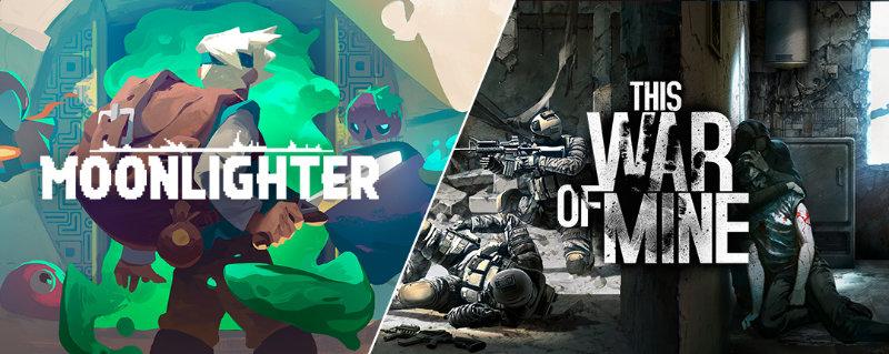 Moonlighter und This War of Mine - PC-Spiel - Windows/Mac - Computerspiele kostenlos