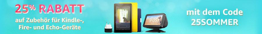Amazon Gutschein - SOMMER25 - 25% Rabatt auf Zubehör für Amazon Geräte wie Fire TV, Echo oder Kindle Paperwhite