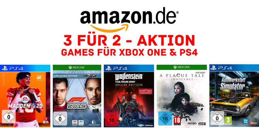 3 für 2 - Aktion - Konsolen-Games - günstiger im Dreierpack - 2 kaufen, 1 geschenkt