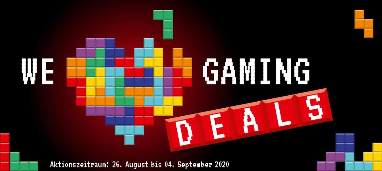 We love Gaming Deals - Gamescom-Aktion 2020 mit Angeboten und Rabatten - Alternate