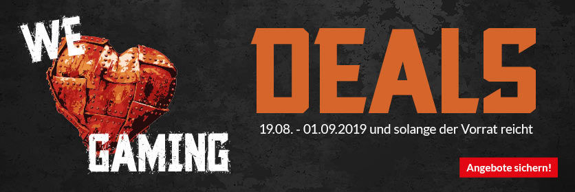 We love Gaming Deals - Gamescom-Aktion mit Angeboten und Rabatten - Alternate