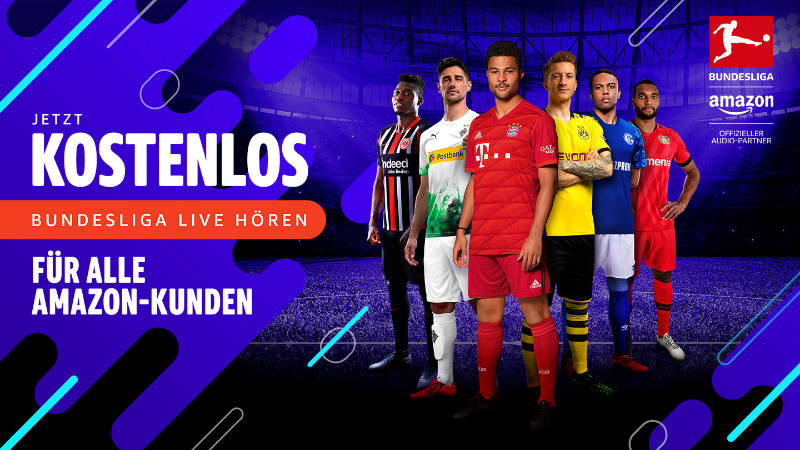 Livestreams Bundeslig, DFB-Pokal und deutsche Champions League Spiele - Audiostream