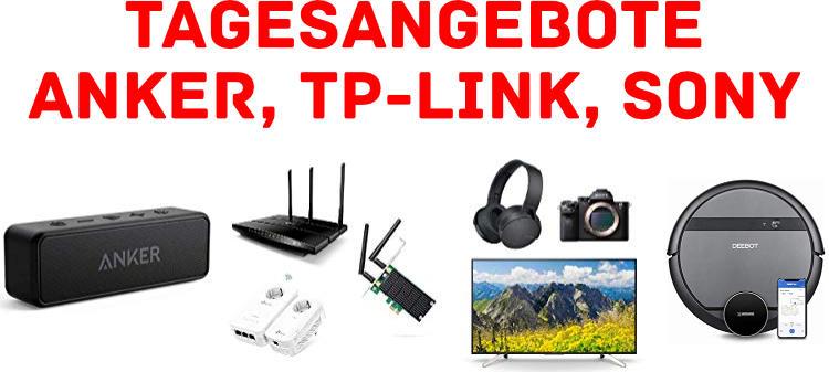 Amazon - viele Tagesangebote - Technik von Anker, TP-Link, Sony, Ecovacs und mehr reduziert
