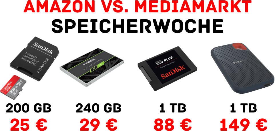 Günstige Speicherprodukte - SSDs, Speicherkarten, microSD, externe SSD, interne SSD
