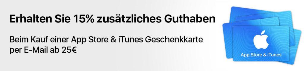 iTunes und App Store Guthaben günstiger bzw. mit zusätzlichem Guthaben