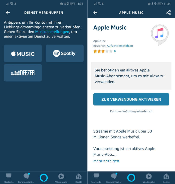 Apple Music per Amazon Alexa und Amazon Echo abspielen