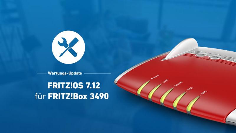 FRITZ!Box 3490 bekommt Update auf FRITZ!OS 7.12 - Probleme mit Portfreigaben und dauerhaft blinkender WLAN-LED behoben