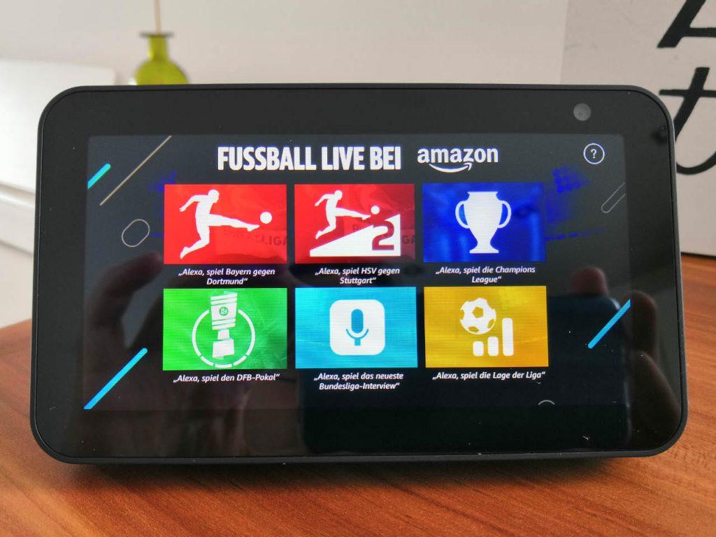Fussball Live auf Amazon Echo Show - Menü am Bildschirm