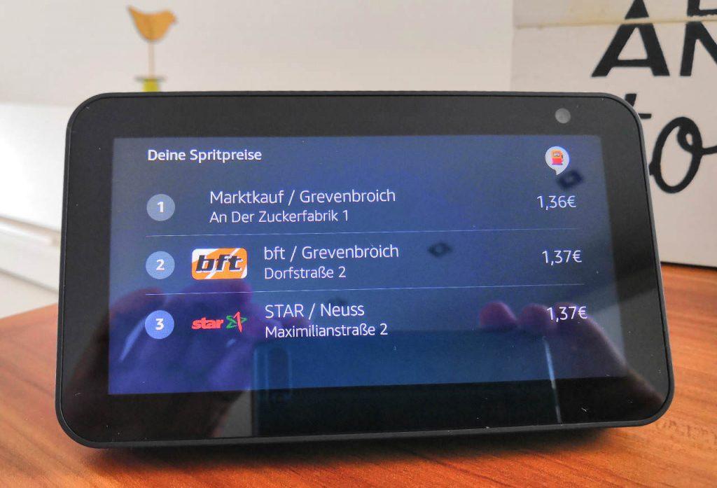 Spritspreise - Amazon Alexa - Alexa Skill zeigt Spritpreise ausgewählter Tankstellen
