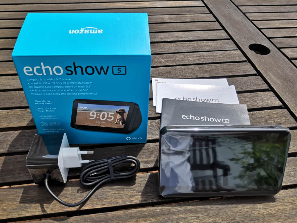 Amazon Echo Show 5 - Unboxing - Was befindet sich im Karton?
