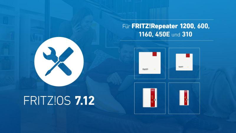 Fritz!OS 7.12 – Neustes Update jetzt auch für FRITZ!Repeater 1200, 600, 450E und 310