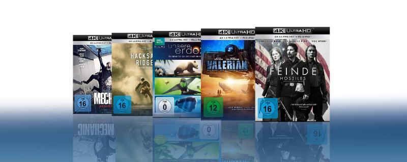 4K Blu-rays günstiger im 5er Pack