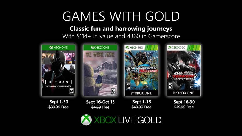 Monatlich kostenlose Spiele mit Xbox Live Gold und Xbox Game Pass Ultimate - September 2019