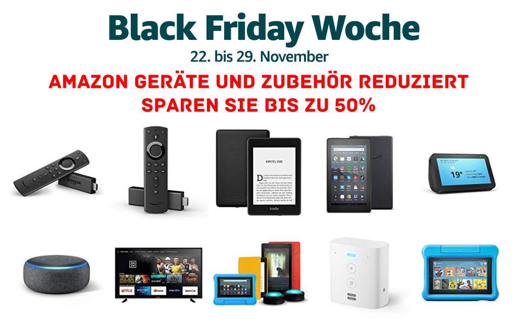 Black Friday Woche 2019 - Fire TV Stick (4K), Echo, Kindle eReader, Fire Tablets und mehr reduziert