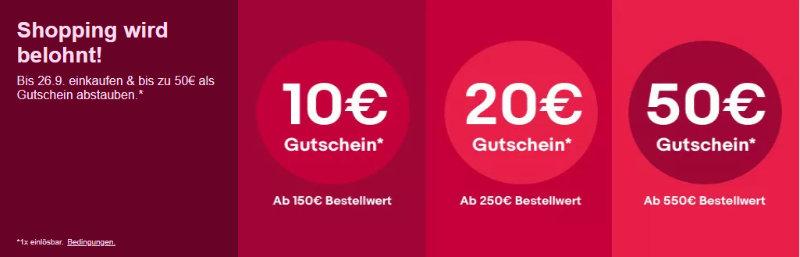 eBay Gutschein - Bis zu 50 Euro sparen mit Gutscheincode